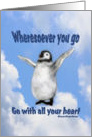 Happy Penguin Inspirational Quote Card