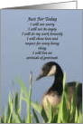 Canada Goose Art Inspirational Message Card