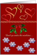 Mistletoe Card for Husband card