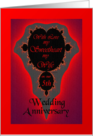 5th / Sweetheart / Wife Our Wedding Anniversary - Vibrant Fractal card