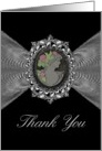 Thank You / General / Cameo on a Silver like Fractal card