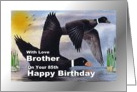 85th Birthday/ Brother / Surf Scooter Ducks card