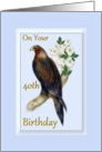 40th Birthday - Wedge Tailed Eagle card