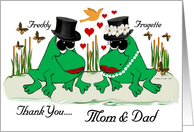 Wedding Thank You / Mom & Dad / Groom card