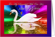 Wife Birthday / Age Specific 50th / Lady Swan card