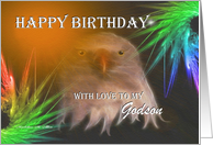 Happy Birthday ~ Godson ~ Bald Eagle card