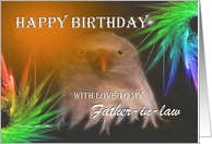 Happy Birthday ~ Father-in-law ~ Bald Eagle card