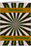 Birthday ~ Godson ~ Abstract Pinwheel card