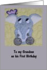 Grandson's first birthday card