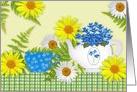 Garden Tea Easter card