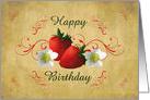 Strawberries Birthday card