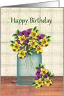 Country Violas Birthday card