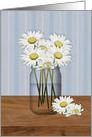 Jar Of Daisies Birthday card
