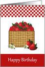 Basket Of Strawberries Birthday card