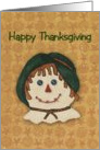 Country Scarecrow Thanksgivng Card