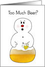 Too Much Beer Christmas card