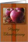 Autumn Apples Thanksgiving Card