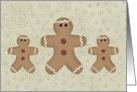Business Gingerbread Men Christmas Card
