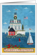 Christmas at Rose Island Light card
