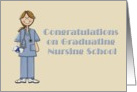 Congratulations on Graduating Nursing School-Nurses, Graduation, card