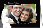 Bridal Photo Card - Thank You for the Gift Custom Wedding Card
