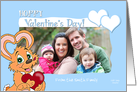 Valentine's Bunny Hoppy Valentine's Day Custom Text Photo Card