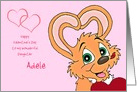 Valentine's Bunny Customizable Name and Relationship Text Card
