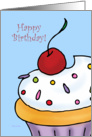 Happy Birthday - Vanilla Cupcake card