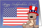 Patriotic Teddy Bear - Happy Independence Day card