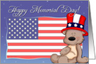 Patriotic Teddy Bear - Happy Memorial Day card