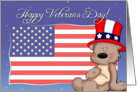 Patriotic Teddy Bear - Happy Veterans Day card