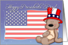 Patriotic Teddy Bear - Happy Presidents Day card