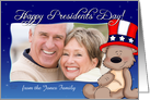 Patriotic Teddy Bear - Happy Presidents Day Photo Card