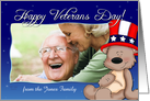 Patriotic Teddy Bear - Happy Veterans Day Photo Card