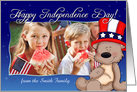Patriotic Teddy Bear - Happy Independence Day Photo Card