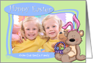 Easter Bunny Teddy Bear - Photo Card