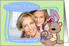 Easter Bunny Teddy Bear - to Somebunny's favorite Aunt - Photo Card