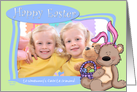Easter Bunny Teddy Bear - to Somebunny's favorite Grandma - Photo Card