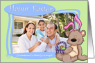 Easter Bunny Teddy Bear - to Somebunny's favorite Grandpa - Photo Card