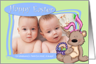 Easter Bunny Teddy Bear -Somebunny's favorite Great Grandpa card