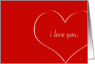 Heart - I Love You card