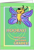 Happy Butterfly - Congratulations on your Good Grades card