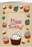 Happy Half Birthday Cupcakes card
