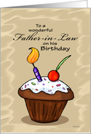 Celebration Cupcake - Birthday card for Father in Law card