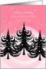 Christmas - Hair Stylist - Trees in the Winter card