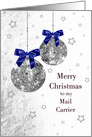 Christmas - Postal Mail Delivery - Festive Holiday Ornaments card