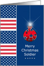 USA - Military - Soldier - Christmas Ornament card