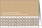Eagle Scout Achievement Ceremony Invitation - Shape + Pattern card