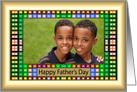 Father's Day - Colorful Squares Photo Card