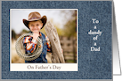 Father's Day - Dad - Denim Look Photo Card